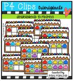 Gingerbread 10 Frames (P4 Clips Trioriginals Digital Clip Art)