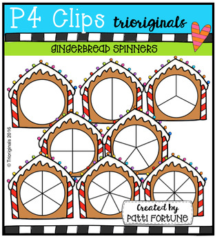 Gingerbread Spinners (P4 Clips Trioriginals Digital Clip Art)