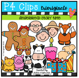 P4 STORY TIME Gingerbread (P4 Clips Trioriginals Digital Clip Art)
