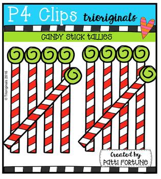 Candy Stick Tallies (P4 Clips Trioriginals Digital Clip Art)