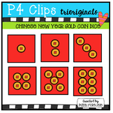Gold Coin DICE (P4 Clips Trioriginals Clip Art)