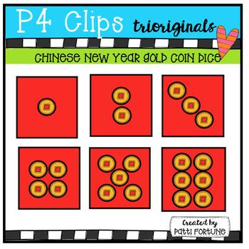 Gold Coin DICE (P4 Clips Trioriginals Clip Art)