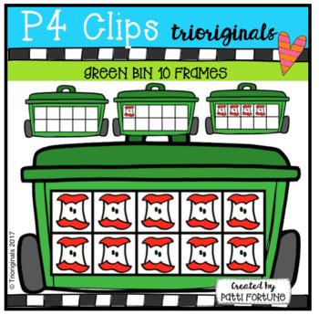 Green Bin 1-10 10 Frames (P4 Clips Trioriginals Clip ,Art)