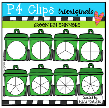 Green Bin Spinners (P4 Clips Trioriginals Clip Art)