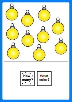 Christmas Activity HOW MANY? WHAT COLOR? Adapted Book for Autism