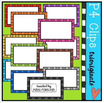 Half Pager #4 (P4 Clips Trioriginals Clip Art)
