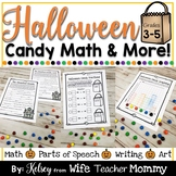 Halloween Candy Math Activities & More for 3rd, 4th, 5th Grade