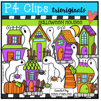 Halloween Houses (P4 Clips Trioriginals Clip Art)