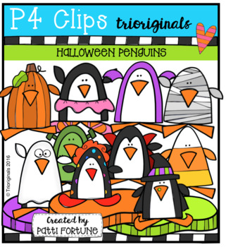 (50% OFF) Halloween Penguins (P4 Clips Trioriginals Clip Art)