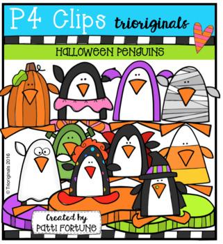 Halloween Penguins (P4 Clips Trioriginals Clip Art)