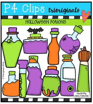 Halloween Potions (P4 Clips Trioriginals Digital Clip Art)