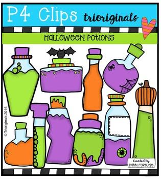 Halloween Potions (P4 Clips Trioriginals Digital Clip Art)