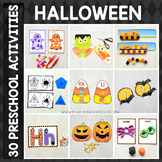 Halloween Preschool/ Kindergarten Unit - Math and Literacy Centers