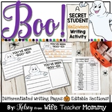 Halloween Writing Unit- Boo Writing Prompts for Classroom Community