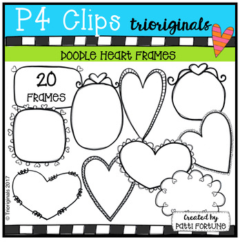 Heart Doodle Frames (P4 Clips Trioriginals Clip Art)