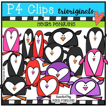 Heart Penguins (P4 Clips Trioriginals Clip Art)