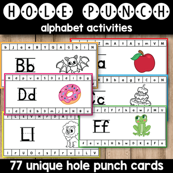 Hole Punch Activities (Alphabet Hole Punch Cards)