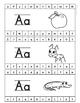 Alphabet Cards with Pictures, Hole Punch Activities, Alphabet Tracing Cards