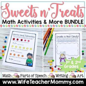 **50% OFF!**Holiday Math All Year Long GROWING Bundle for 1st and 2nd Grades