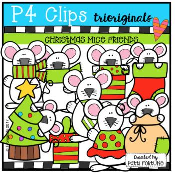 Holiday Mice (P4 Clips Trioriginals Clip Art)