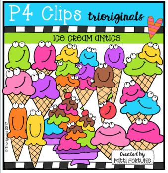 Ice Cream Antics (P4 Clips Trioriginals Clip Art)