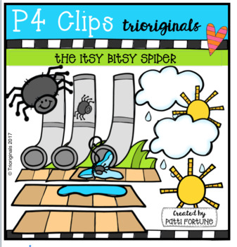 Itsy Bitsy Spider (P4 Clips Trioriginals Clip Art)