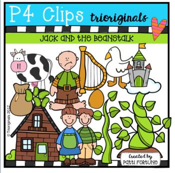 Jack and the Beanstalk (P4 Clips Trioriginals Clip Art)