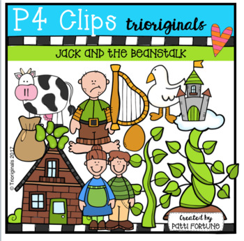 Jack and the Beanstalk (P4 Clips Trioriginals Clip Art)