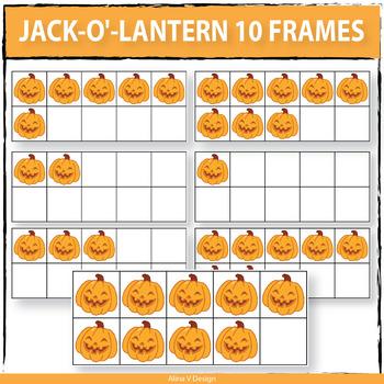 Jack-o-lantern 10 Frames Clipart