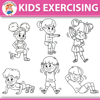 Kids Exercising Exercises Workout