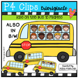 Kids on the Bus 10 Frames (P4 Clips Trioriginals Clip Art)