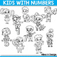Number Kids, Kids Holding Numbers Clipart 0 to 10