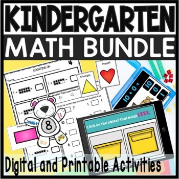 Math Games Centers and Activities Kindergarten Bundle