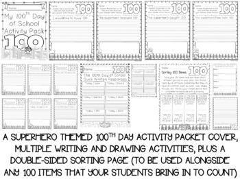 Kindergarten Superhero Supplies Bundle