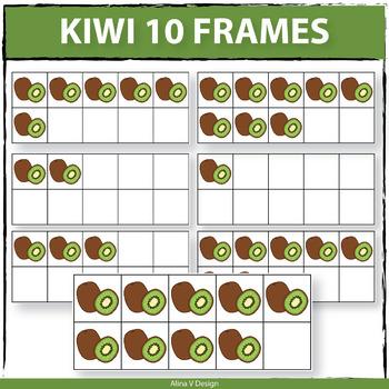 Kiwi 10 Frames Clipart