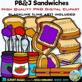 PB&J | Peanut Butter and Jelly Clip Art for Personal and Commercial Use