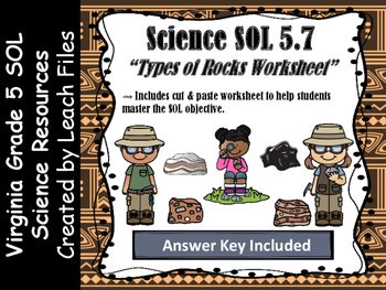 SOL 5.7B TYPES OF ROCKS WORKSHEET