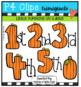 Little Pumpkins Sitting on a Gate (P4 Clips Triorignals Clip Art)