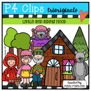 Little Red Riding Hood(P4 Clips Trioriginals Clip Art)