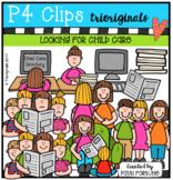 Looking for Child Care (P4 Clips Trioriginals Clip Art)