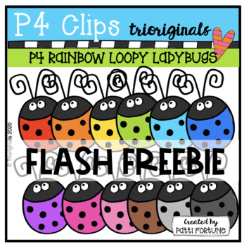 Loopy LadyBugs (P4 Clips Trioriginals Clip Art)