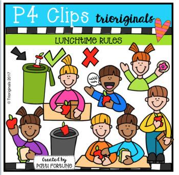 Lunchtime Rules (P4 Clips Trioriginals Clip Art)
