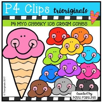 MYO P4 CHEEKY Ice Cream Cones (P4 Clips Triorignals Clip Art)
