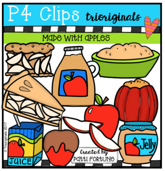 Made With Apples (P4 Clips Trioriginals Clip Art)
