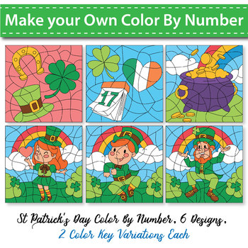 Make Your Own Color By Code - St Patrick's Day Theme