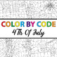 Make Your Own Color By Number - 4th Of July Theme (Color By Code)