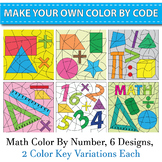 Color By Number Back to School - Math Theme Template