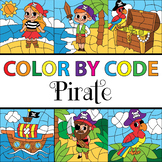 Color by Code Pirate Theme - Talk Like A Pirate Day Clipart