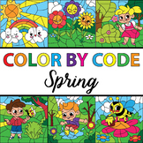 Make Your Own Color By Number Spring Theme