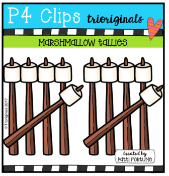 Marshmallow Tallies (P4 Clips Trioriginals Clip Art)